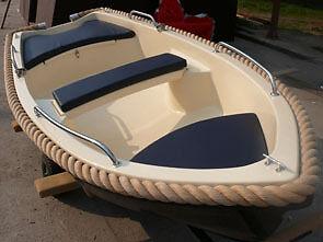 Kleines-310-GFK-Boot-Ruderboot-Angelboot-fuer-2-Personen-NEU-Ausstellungsboot