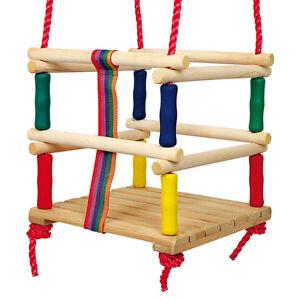 kleinkinderschaukel holz schaukelsitz kleinkind baby gitterschaukel holzschaukel ebay. Black Bedroom Furniture Sets. Home Design Ideas
