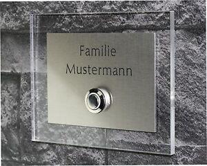 Klingel-Edelstahl-Design-GRAVUR-LED-Klingel-platte-Tuerklin-gel-Taster-3-003-S-H1