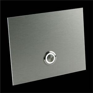 Klingelplatte-Klingeltaster-Klingel-Tuerklingel-Edelstahl-Look-Design-LED-Ringbel