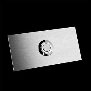Klingelplatte-Klingeltaster-Klingel-Tuerklingel-Kontaktplatte-Edelstahl-Look-LED