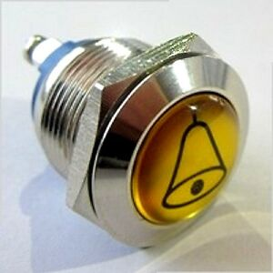 Klingeltaster-Edelstahl-Drucktaster-Knopf-Door-Bell-button-Momentary-Switch-IP65