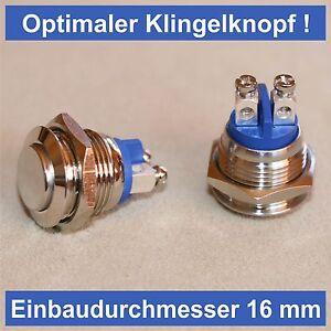 Klingeltaster-Einbautaster-Switch-Taster-ohne-LED-Beleuchtung-Switch-Klingel-Top
