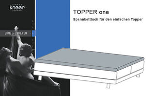kneer vario stretch q22 one spannbetttuch f r topper. Black Bedroom Furniture Sets. Home Design Ideas