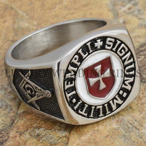 Knight Templar Masonic Ring Scottish Soldiers Cross Signet Jewelry Size 9-12 in Jewelry & Watches, Men's Jewelry, Rings | eBay