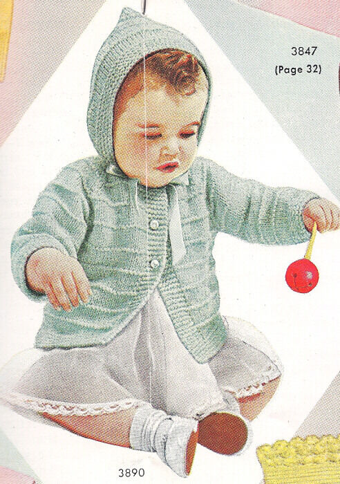 Plymouth Baby's Zip Hooded Sweater Knitting Pattern - Knitting