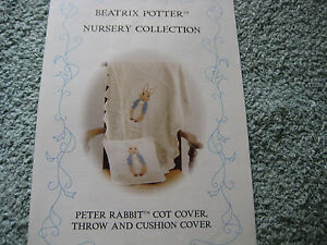 Knitting-Pattern-Beatrix-Potter-Peter-Rabbit-Cot-Cover-Throw-Cushion