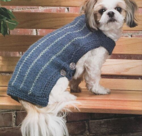 Knitting Coats For Dogs : Knitting pattern for a classic warm snug knitted dog