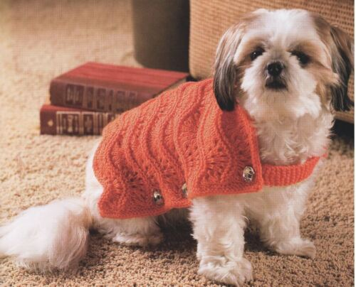 Knitting Pattern For A Cute Cuddly Lace Knit Dog Coat Easy To Make