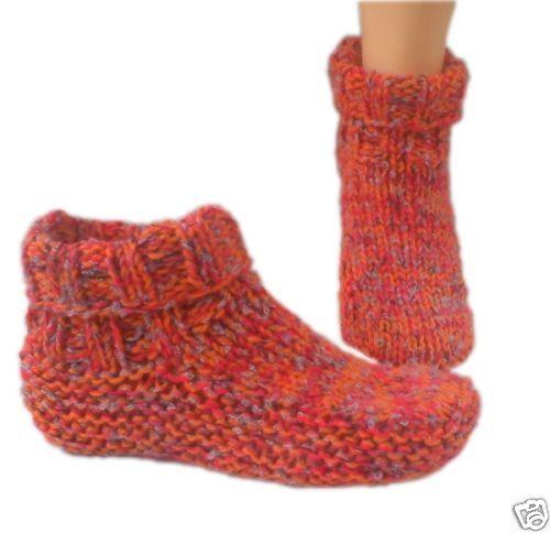 Extra Long Straight Knitting Needles Uk : Knitwitz country slipper dorm boot knitting pattern