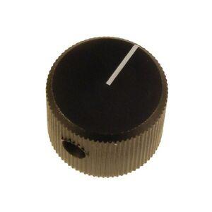 Knopf-20-4-SW-Mentor-Drehknopf-ALU-schwarz-20mm-Potiknopf-4mm-Achse-030683