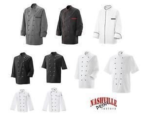 Kochjacke-Baeckerjacke-mit-Knoepfen-Kochkleidung-Berufsbekleidung-Koch-Gastronomie