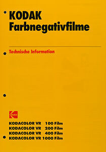 Kodak Farbnegativfilme VR 100 - 200 - 400 - 1000 - Kodak Datenblatt - Deutschland - Kodak Farbnegativfilme VR 100 - 200 - 400 - 1000 - Kodak Datenblatt - Deutschland