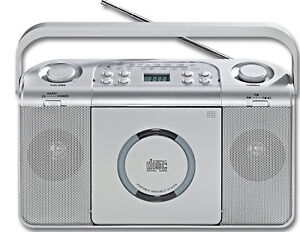 kofferradio mit cd player mw ukw stereo radio tragbar aux. Black Bedroom Furniture Sets. Home Design Ideas