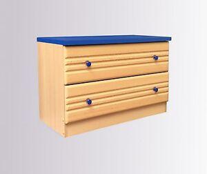 kommode schrank garderobenschrank buche blau flur diele. Black Bedroom Furniture Sets. Home Design Ideas