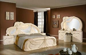 Komplett-Schlafzimmer-Set-Klassische-Italienische-Stilmoebel-Creme ...