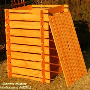 komposter holz 1000 l bemalt kompostbeh lter kompostsilo. Black Bedroom Furniture Sets. Home Design Ideas