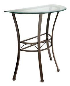 konsole beistelltisch aus metall braun mit halbrunder. Black Bedroom Furniture Sets. Home Design Ideas