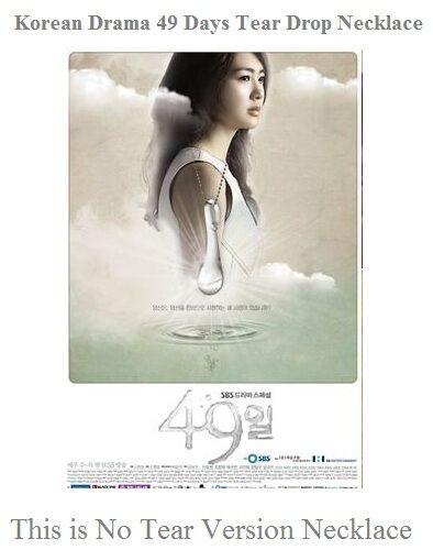 Korean Drama 49 Days Tear Drop Necklace