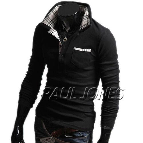 Korean Stylish Men Casual Slim Fit Shirt Hoodie Simple Style dress PJ