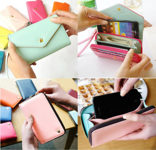 Korean cute envelope wallet leather case bag for Samsung iphon 5,4S/4 in Everything Else, Other | eBay