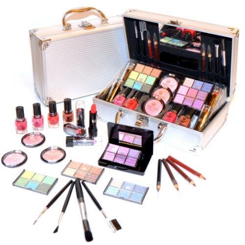 kosmetik make up schminke alu koffer gef llt 44 teilige. Black Bedroom Furniture Sets. Home Design Ideas
