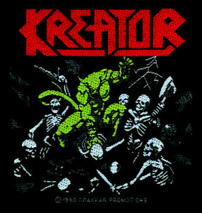 kreator pleasure to kill aufn her patch thrash speed. Black Bedroom Furniture Sets. Home Design Ideas