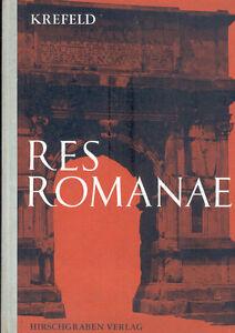 Krefeld-Res-Romanae-Begleitbuch-lateinisch-Lektuere-Latein-Hirschgraben-1961