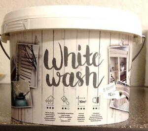 kreidefarbe holzfarbe white wash shabby look antik chic holz m bel vintage 1l ebay. Black Bedroom Furniture Sets. Home Design Ideas