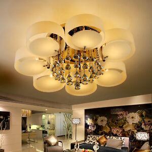 kristall deckenlampe modern pendelleuchte warmwei led e27. Black Bedroom Furniture Sets. Home Design Ideas