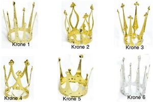 krone gold od silber f r kost m k nigin prinzessin. Black Bedroom Furniture Sets. Home Design Ideas
