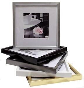Kst-Bilderrahmen-Homestye-13x18-20x30-40x60-Silber-gold-weiss-schwarz-stahl
