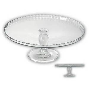 kuchenplatte tortenplatte mit fu kuchenteller tortenteller glas servierplatte ebay. Black Bedroom Furniture Sets. Home Design Ideas
