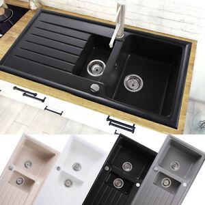 k chensp le granitsp le einbausp le drehexcenter sifon siphon 60er ebay. Black Bedroom Furniture Sets. Home Design Ideas
