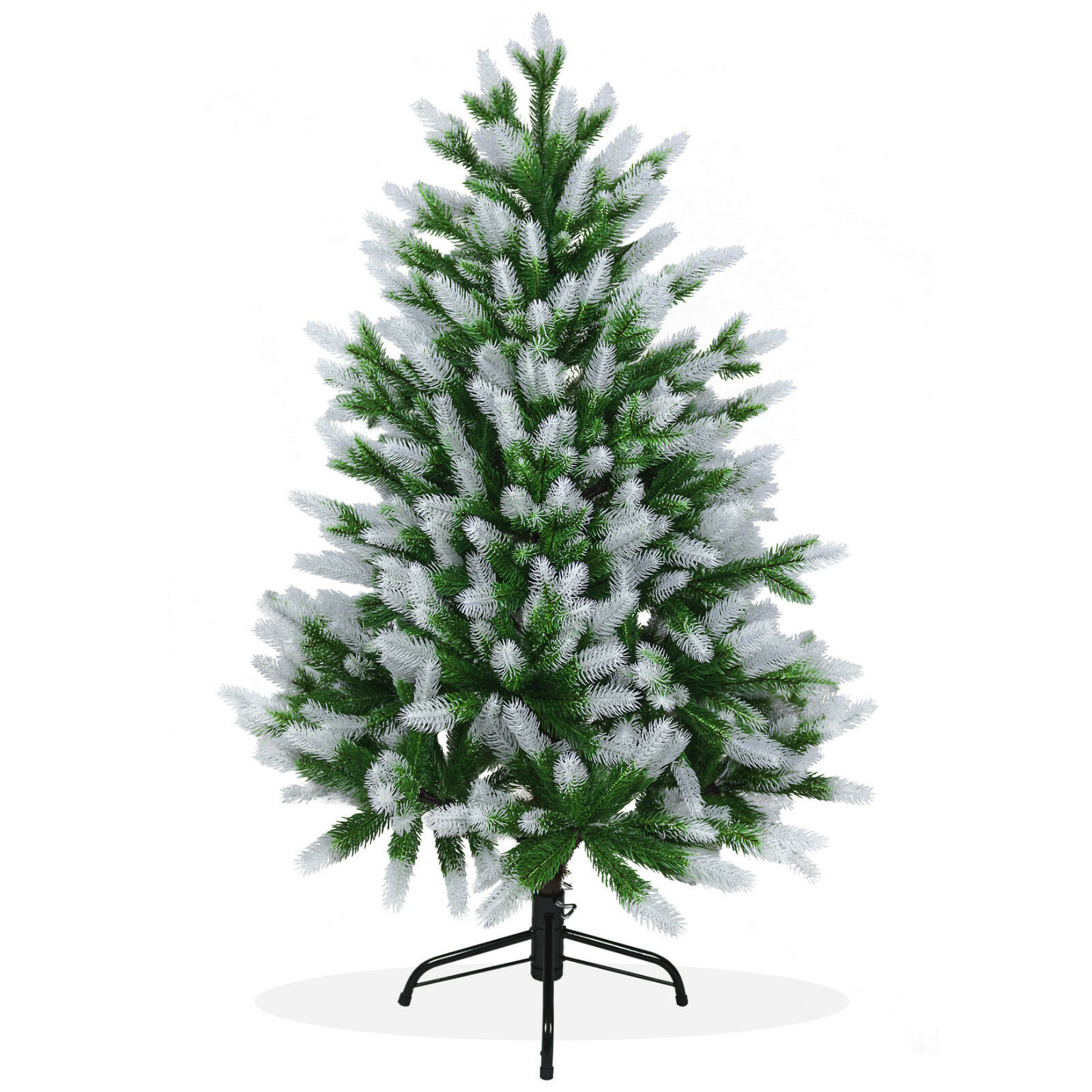 k nstlicher weihnachtsbaum 120cm nordmanntanne spritzguss christbaum schnee ps05 ebay. Black Bedroom Furniture Sets. Home Design Ideas