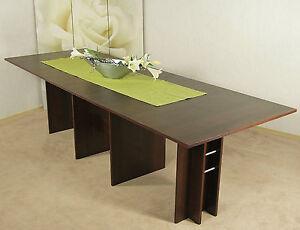 kulissentisch nu baum dunkel esstisch esszimmertisch esszimmer tisch modern neu ebay. Black Bedroom Furniture Sets. Home Design Ideas