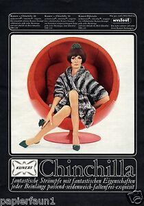 kunert nylons reklame 1966 kugelsessel damenstr mpfe strumpfhose pelz chinchilla ebay. Black Bedroom Furniture Sets. Home Design Ideas