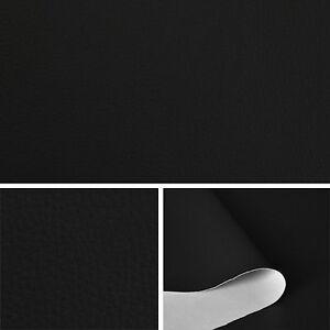 Kunstleder-schwarz-Leder-Meterware-PVC-140cm-breit