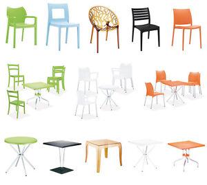 kunststoff gartenm bel set design plastik gartenstuhl gartentisch stapelstuhl ebay. Black Bedroom Furniture Sets. Home Design Ideas