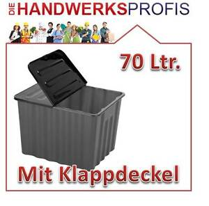 kunststoffbox lagerbox sortierbox aufbewahrungskiste lagerkiste mit deckel 70l ebay. Black Bedroom Furniture Sets. Home Design Ideas