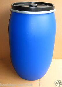 kunststofffass futterbox fass futterkiste wassertonne tonne 200 l blau ebay. Black Bedroom Furniture Sets. Home Design Ideas