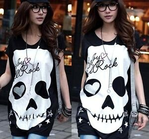 Shirt Dress on Skull Heart Punk Nana Hollowed Top Blouse Shirt Dress Black S M   Ebay