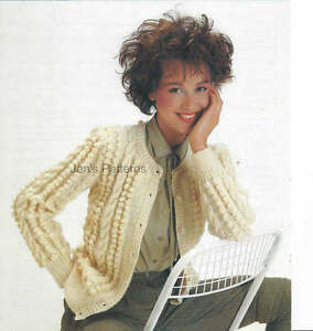 Details about LADIES ARAN CARDIGAN KNITTING PATTERN LAMINATED