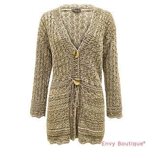 ladies knitted boyfriend crochet shrug cardigan womens dress top plus