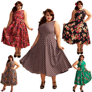 Plus Size Retro Dresses Uk - Holiday Dresses
