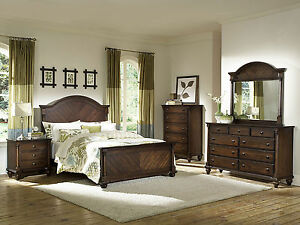 bedroom sets laguna 5pcs country cottage walnut brown