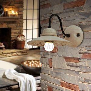 Lampada parete applique 1l ceramica classico rustico for Illuminazione taverna