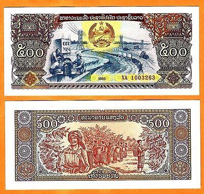 LAOS  LAO 500  KIP 1988  UNC