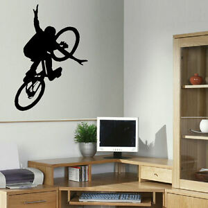 Large Bmx Bike Childrens Art Bedroom Wall Big Mural