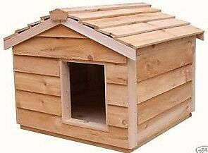 LARGE INSULATED CEDAR CAT HOUSE SMALL DOG HOUSE SHELTER in Pet Supplies, Cat Supplies, Furniture & Scratchers | eBay